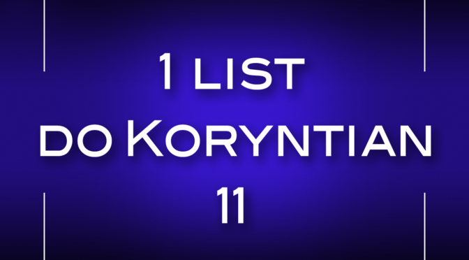 1 list do Koryntian 11